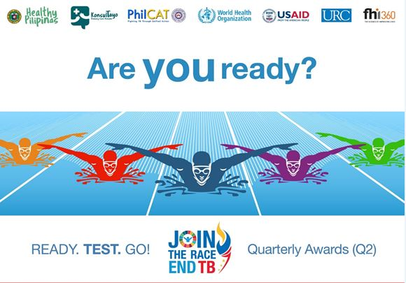 DOH Race to End TB Q2 Awards on August 27, starting at 2:00pm